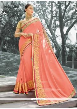 Dainty Jacquard Embroidered Work Classic Designer Saree