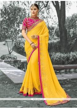 Tempting Viscose Zari Work Designer Saree