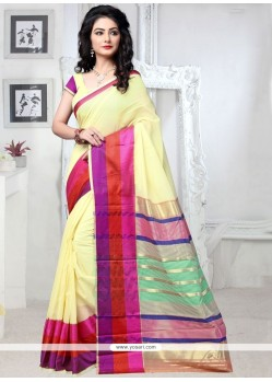 Aesthetic Yellow Casual Saree