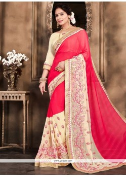 Charming Hot Pink Classic Designer Saree
