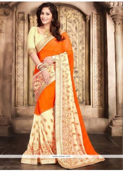 Elegant Orange Saree