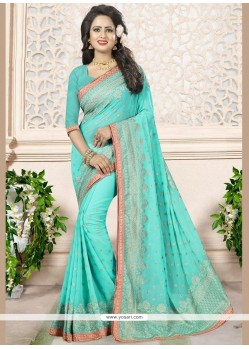 Modern Faux Georgette Blue Saree