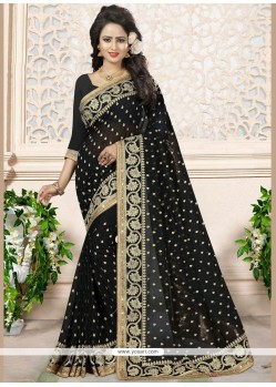 Aspiring Faux Georgette Embroidered Work Classic Designer Saree