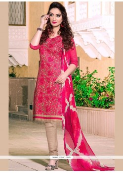 Renowned Embroidered Work Leon Churidar Suit