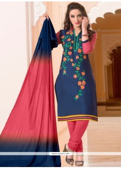 Capricious Embroidered Work Leon Churidar Suit