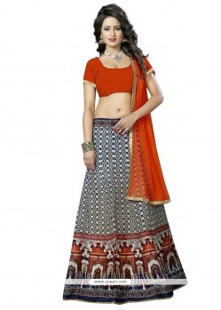 Spellbinding Banglori Silk Multi Colour Lehenga Choli