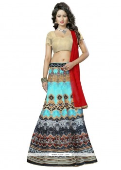 Irresistible Banglori Silk Multi Colour Print Work Lehenga Choli