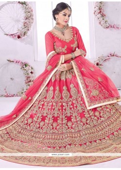 Mesmerizing Net Rose Pink Lehenga Choli