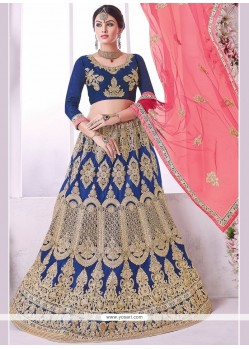 Cute Embroidered Work Net Lehenga Choli