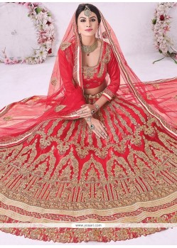 Tempting Lace Work Net Lehenga Choli