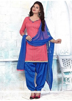 Affectionate Pink Punjabi Suit
