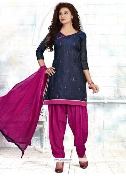 Titillating Blue Punjabi Suit