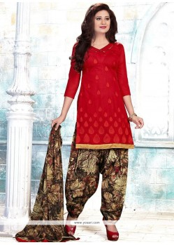 Delightsome Chanderi Punjabi Suit