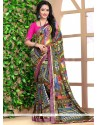 Distinctively Georgette Print Work Casual Saree