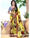 Refreshing Print Work Casual Saree