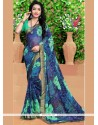 Incredible Georgette Print Work Casual Saree