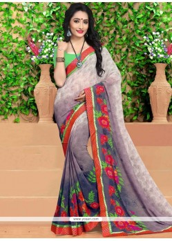 Magnificent Print Work Georgette Casual Saree