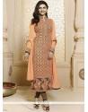 Prachi Desai Georgette Orange Churidar Suit