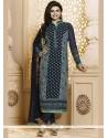 Prachi Desai Embroidered Work Blue Churidar Suit