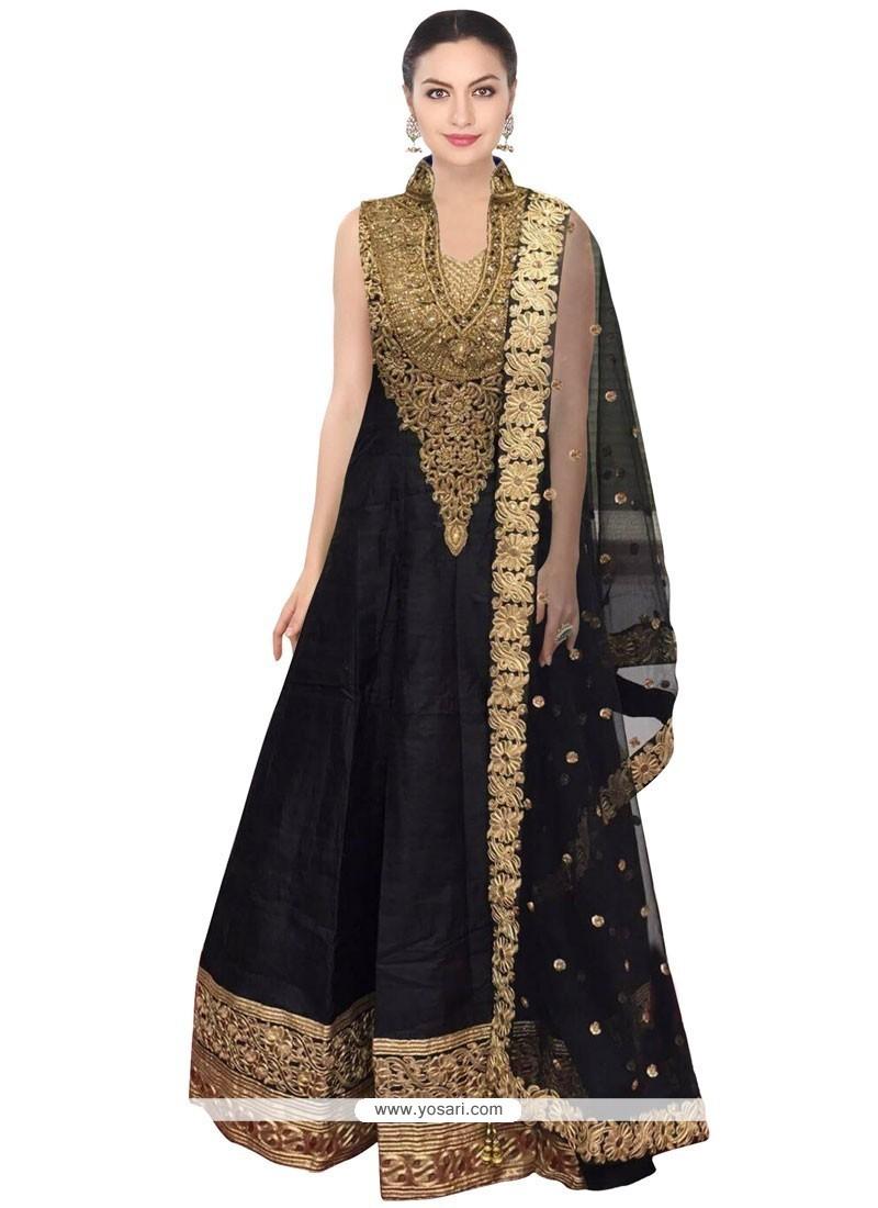 Marvelous Patch Border Work Floor Length Anarkali Salwar Suit