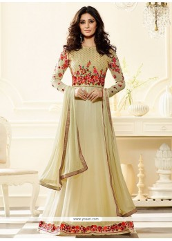 Intricate Faux Georgette Floor Length Anarkali Suit