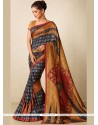 Simplistic Tussar Silk Multi Colour Designer Traditional Saree