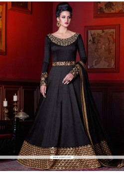 Specialised Black Floor Length Anarkali Suit