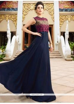 Perfect Satin Silk Embroidered Work Designer Gown