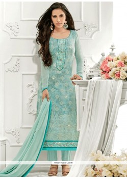 Honourable Embroidered Work Designer Straight Suit