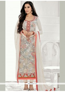 Whimsical Multi Colour Designer Straight Suit