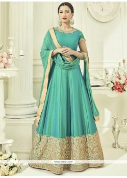 Gauhar Khan Art Silk Embroidered Work Floor Length Anarkali Suit