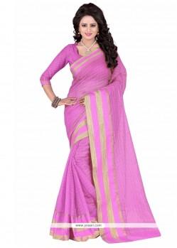 Cotton Silk Lace Work Casual Saree