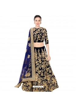Embroidered Lehenga Choli In Blue