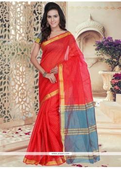 Cotton Silk Weaving Work Casual Saree
