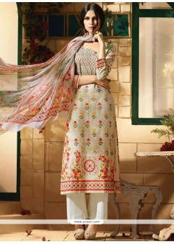 Cotton Satin Multi Colour Designer Palazzo Suit