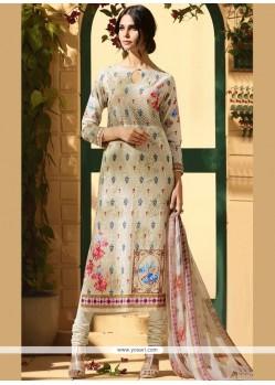 Cotton Satin Resham Work Churidar Designer Suit