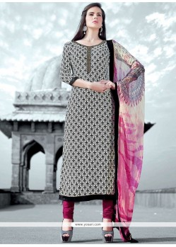 Print Work Multi Colour Faux Crepe Designer Straight Suit