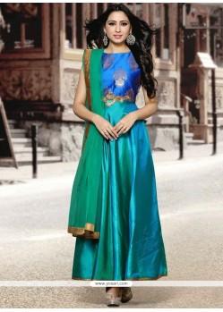 Art Silk Embroidered Work Anarkali Suit