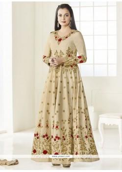 Diya Mirza Cream Floor Length Anarkali Suit