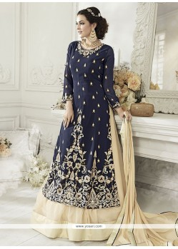Faux Georgette Resham Work Long Choli Lehenga