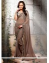 Brown Shaded Georgette Designer Party Wear Saree