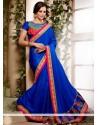 Blue Colour Georgette Designer Saree