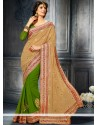Deserving Green Georgette Designer Saree