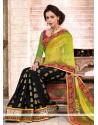 Green And Black Jacquard Designer Saree