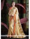 Magical Beige Shade Faux Georgette Saree