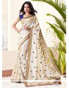 Girlish Beige Art Silk Buttis Saree