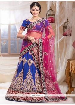 Celestial Blue Net Bridal Lehenga Choli
