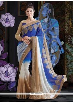 Marvelous Multicolor Faux Georgette Saree