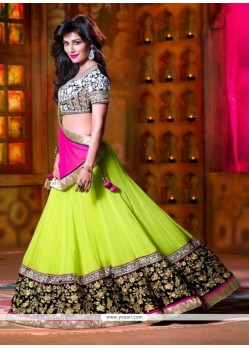 Chitrangada Singh Pure Georgette Resham Work Green Designer Lehenga Choli