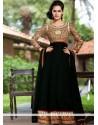 Bedazzling Black Zari Georgette Anarkali Suits